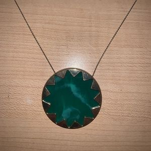 House of Harlow 1960 Necklace in Green Marble